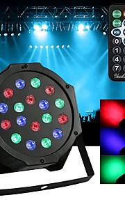 אתה 18w הוביל נקוב האורות rgb קסם אפקט שלב האור מרחוק שליטה dmx512 ac100-240v