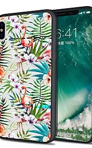 Custodia Per Apple iPhone X iPhone 8 Plus Fantasia/disegno Custodia posteriore Fenicottero Fiore decorativo Morbido TPU per iPhone X