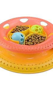 katt katt leksak husdjur leksaker bollbollar interaktiva leksaker boll klocka plast för husdjur