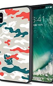 Custodia Per Apple iPhone X iPhone 8 Plus Fantasia/disegno Custodia posteriore Mimetico Morbido TPU per iPhone X iPhone 8 Plus iPhone 8