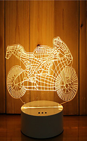 1 סט של 3D מצב הרוח לילה יד קלה להרגיש dimmable מופעל USB מנורה אופנוע