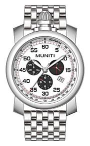 Homens Único Criativo relógio Relógio de Moda Relógio Elegante Japanês Quartzo Calendário Cronógrafo Impermeável Relógio Casual Aço