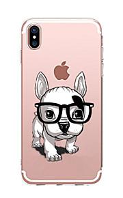Etui Til Apple iPhone X iPhone 8 Transparent Mønster Bagcover Hund Blødt TPU for iPhone X iPhone 8 Plus iPhone 8 iPhone 7 Plus iPhone 7