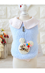 Dog Vest Dog Clothes Casual/Daily Letter & Number Pink Blue Costume For Pets