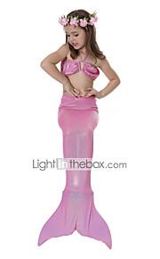 La sirenetta Costumi da bagno Bikini Bambino Natale Mascherata Feste / vacanze Costumi Halloween Rosa Blu Tinta unita