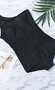 European Style Big Yards Sexy Black Swimsuit Piece Swimsuit Shoulder