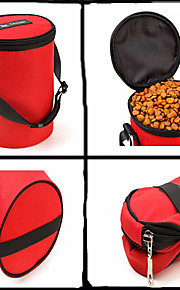 Kat Hond Voerbakken en drinkflessen Huisdieren Kommen & Voeden Mini draagbaar Vouwbaar Zwart Rood