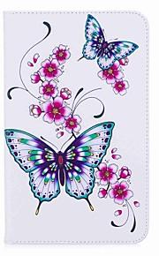 Schmetterlings-Muster Kartenhalter mit Ständer Magnet-PU-Leder-Etui Kartenbeutel mit Muster für Samsung Galaxy Tab a 8.0 (2017) T380 T385