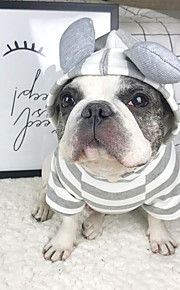 Dog Hoodie Sweatshirt Dog Clothes Stylish Casual/Daily Solid Gray Costume For Pets