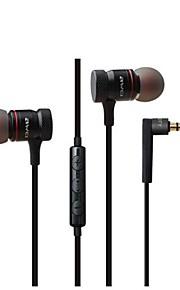 귀에 이어폰 유선 헤드폰 동적 메탈 쉘 모바일폰 이어폰 볼륨 컨트롤 마이크 포함 스테레오 헤드폰