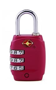 TSA331 Kłódka hasła Stop cynkowy Plastikowy Klucz