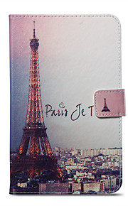 Case For Amazon Card Holder Wallet with Stand Pattern Auto Sleep/Wake Up Full Body Eiffel Tower Hard PU Leather for Kindle Fire 7(5th
