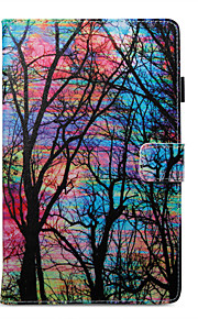 Case For Amazon Card Holder Wallet with Stand Pattern Auto Sleep/Wake Up Full Body Tree Hard PU Leather for Kindle Fire 7(5th Generation,
