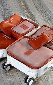 6 sets Reistas Reisbagageorganizer Inpakblokken waterdicht Stofbestendig Vouwbaar Duurzaam Opbergproducten voor op reis Kleding Beha's