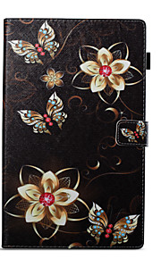 Case For Amazon Card Holder Wallet with Stand Pattern Auto Sleep/Wake Up Full Body Butterfly Hard PU Leather for Kindle Fire hd 10(7th
