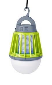 랜턴 & 텐트 조명 LED 180lm lm 3 모드 LED USB 케이블 포함 벌레 방지 휴대용 방수 캠핑 / 등산 / 동굴탐험 블랙 오렌지 그린 다크 블랙