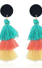 Damskie Kolczyki wiszące , Kutas Słodkie Prezent Sznur Circle Shape Biżuteria Codzienny Wyjściowe Biżuteria kostiumowa
