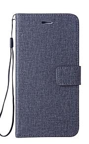 Custodia Per LG G6 Porta-carte di credito A portafoglio Con supporto Con chiusura magnetica Integrale Tinta unica Resistente pelle