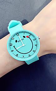 Homens Mulheres Relógio de Moda Relógio Casual Chinês Quartzo Cronógrafo Silicone Banda Criativo Fashion Preta Branco Verde Trevo Azul Céu