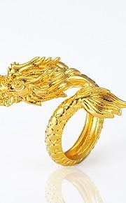 Męskie Pierścień oświadczenia , Zwierzęta Wyrazista biżuteria Miedź Pozłacane Smok Biżuteria kostiumowa Halloween Karnawał