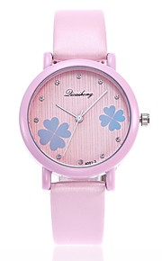 Mulheres Relógio Elegante Relógio de Moda Relógio Casual Chinês Quartzo Relógio Casual PU Banda Casual Fashion Branco Azul Verde Cinza