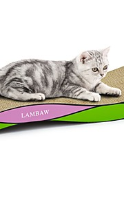 חתול צעצוע לחתול צעצועים לחיות מחמד משטח גירוד צבעוני משטח גירוד מסייע בהפחתת  משקל נפית החתולים נייר קרטון עבור חיות מחמד
