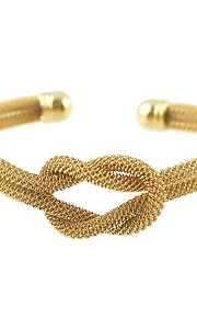 Damskie Bransoletki bangle Bransoletki cuff , Metaliczny Formalna Elegancki Stop Tube Shape Podwójne sznurki Biżuteria Prezent Codzienny