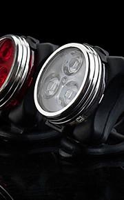 פנסי אופניים / פנס קדמי לאופניים / פנס אחורי לאופניים LED פנסי אופניים - רכיבת אופניים עמיד במים, נטענת, מצבי מרובות 160 lm USB מחנאות / צעידות / טיולי מערות / רכיבה על אופניים / דיג / IPX-4