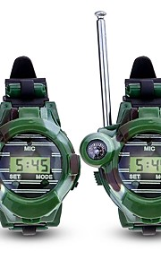 Walkie Talkie Outdoor Exercise Camping / Hiking / Caving Multi-function Wrist Watch Compass Plastic Plastic Shell 2 pcs