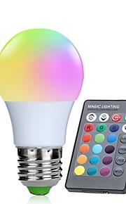 1pc 3W 250lm E26 / E27 Smart LED-lampe 10 LED perler SMD 5050 Infrarød sensor Mulighet for demping Dekorativ Fjernstyrt RGBW 85-265V