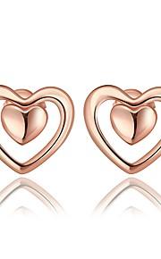 Damskie Kolczyki na sztyft Z pudełkiem Modny Słodkie Stop Serce Biżuteria Ślub Codzienny Biżuteria kostiumowa