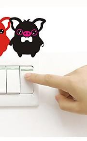 Väggdekal Klistermärken för strömbrytare Klistermärken för kylskåp - Väggstickers Flygplan Djur Kan tas bort