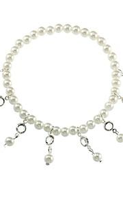 Dame Charm-armbånd Sødt Mode Imiteret Perle Legering Guld Sølv Dråbe Smykker Daglig Stævnemøde Kostume smykker