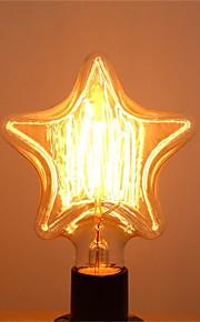 1pc 40W E26/E27 Stjerne Varm hvit 2200-2700k K Kontor / Bedrift Mulighet for demping Dekorativ Glødende Vintage Edison lyspære 220V-240V