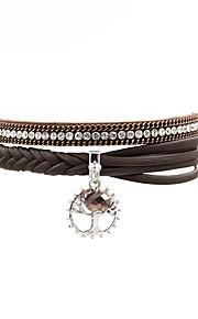 Dame Læder Armbånd Afslappet Mode Læder Brun Bladformet Smykker Gave Daglig Kostume smykker