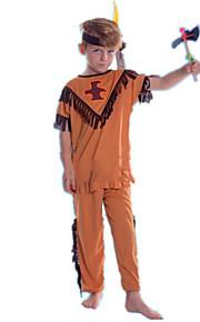 amerikansk indianer Kostume Barne Halloween Festival / høytid Halloween-kostymer Oransje Amerikansk / USA Etnisk