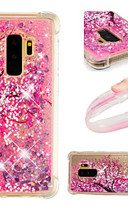 Case For Samsung Galaxy S9 / S9 Plus Shockproof / Flowing Liquid / Pattern Back Cover Flower / Glitter Shine Soft TPU for S9 Plus / S9 /