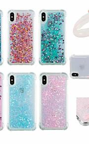 Funda Para Apple iPhone X / iPhone 6 Antigolpes / Líquido / Brillante Funda Trasera Un Color / Brillante Suave TPU para iPhone X / iPhone