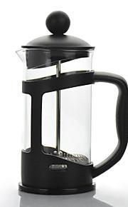 Kampeerkoffiepot Koffieketel Lichtgewicht glas / Roestvast staal / PP Buiten voor Wandelen / Kamperen / Reizen Zwart