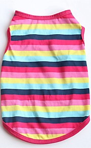 Dogs / Cats / Pets Vest Dog Clothes Striped / Color Block / Quotes & Sayings Fuchsia / Blue Cotton Costume For Pets Female Casual / Daily