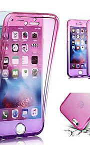 Kılıf Na Jabłko iPhone X / iPhone 8 Półprzezroczyste Pełne etui Przejście kolorów Miękka TPU na iPhone X / iPhone 8 Plus / iPhone 8