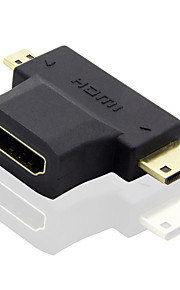 Unitek 04 3 Micro HDMI HDMI 2.0 / Mini HDMI Male - Female Short(Under 20 cm)