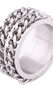 Ανδρικά Κομψό Band Ring Τιτάνιο Ατσάλι Ανοξείδωτος Δημιουργικό Πανκ  Ευρωπαϊκό Μοντέρνο Μοδάτο Δαχτυλίδι Κοσμήματα Ασημί Για eef8335d8a7