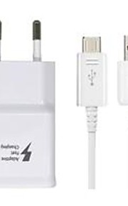 Portable Charger USB Charger EU Plug with Cable 1 USB Port 2.1 A 100~240 V for