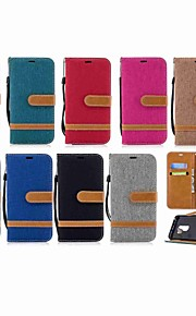 Case For Samsung Galaxy S9 Plus / S8 Wallet / Card Holder / with Stand Full Body Cases Solid Colored Hard Textile for S9 / S9 Plus / S8 Plus