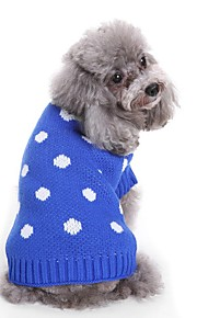 Dogs Sweater Dog Clothes Spots & Checks / Yarn Dyed / Character Blue / Pink Terylene Costume For Pets Unisex Spots & Checks / Sweet Style
