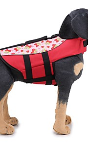 Dogs Life Vest Dog Clothes Solid Colored / Classic Orange / Green Fabric Costume For Pets Unisex Unique Design / Casual / Sporty