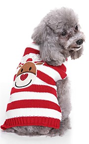 Dogs Sweater Dog Clothes Crewels / Yarn Dyed / Character Black / Red Terylene Costume For Pets Unisex Sweet Style / Casual / Daily
