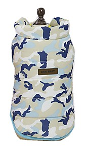 Dogs Vest Dog Clothes Camouflage Color / Character / Slogan Yellow / Blue / Pink Terylene Costume For Pets Unisex Sweet Style / Casual / Daily