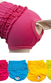 Dogs Pants Dog Clothes Solid Colored / Striped Fuchsia / Blue / Light Green Fabric Costume For Pets Female Sports & Outdoors / Ordinary